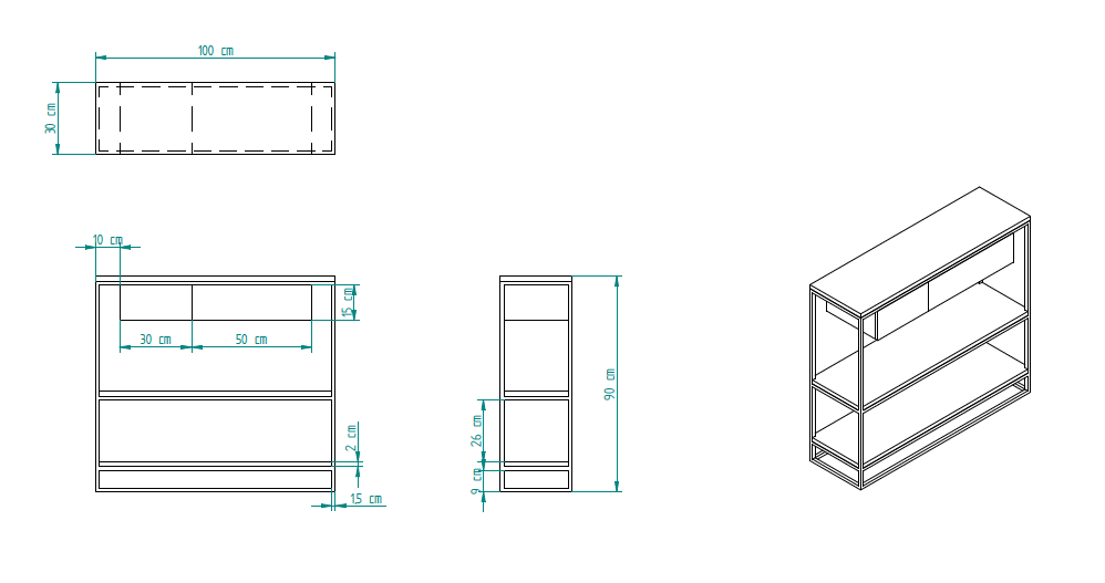 konsole linnea mit schubladen roomify m bel online shop. Black Bedroom Furniture Sets. Home Design Ideas