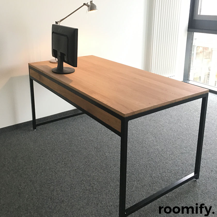 industrial schreibtisch roomify m bel online shop. Black Bedroom Furniture Sets. Home Design Ideas